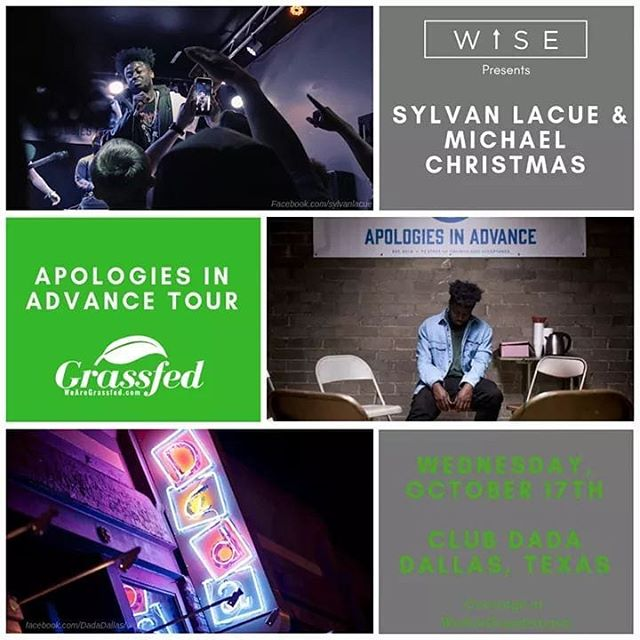 We will be at @sylvanlacue and @michaelchristmas tomorrow tonight at @clubdadadfw 8PM  @wiseupco #WiseUpCo #Rap #WiseUp #WeAreGrassfed #Grassfed #LiveMusic #Concert #HipHop #DadaDallas #Music #ClubDada #SylvanLacue #Live #MichaelChristmas #DallasTX #GrassfedMedia #GrassfedMusic