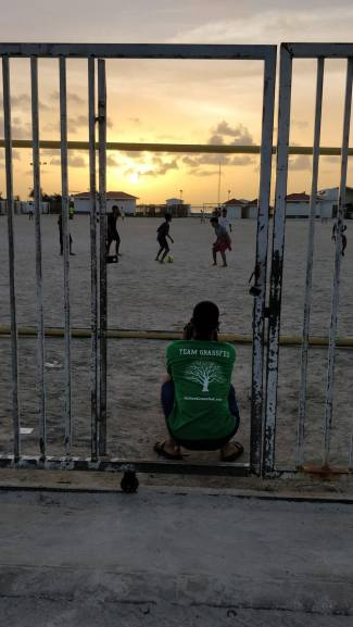 Klayton picture taking sunset football