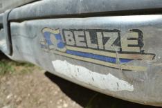 Faded Belize Bumper Sticker